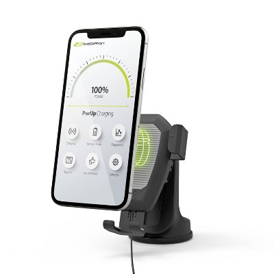 Bracketron Power Up Wireless Charging Gravity Dash/Window & Vent Mount - Black