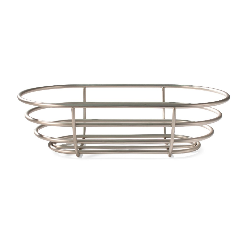 Image of Spectrum Euro Steel Bread Basket - Satin Nickel, Silver