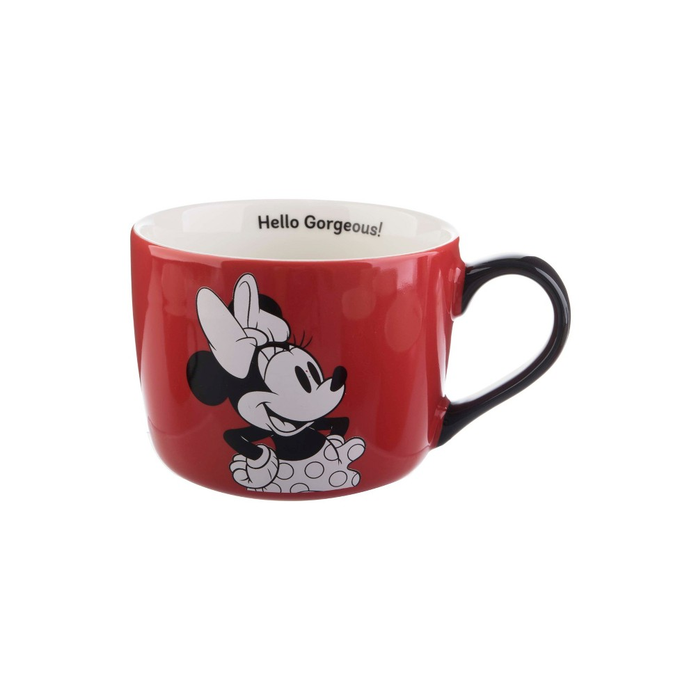 Mickey Mouse & Friends Minnie Mouse Porcelain Hello Gorgeous Mug 15oz - Red/Black, Gray
