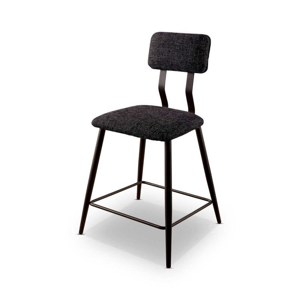 Coupons Set of 2 Locust  Padded Back Counter Height Chair Black - HOMES: Inside + Out