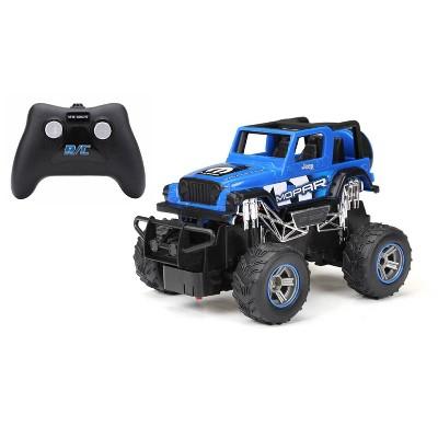 New Bright 1:24 R/C FF Truck - Jeep Blue