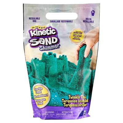 Kinetic Sand 2lb Twinkly Teal Shimmer Sand