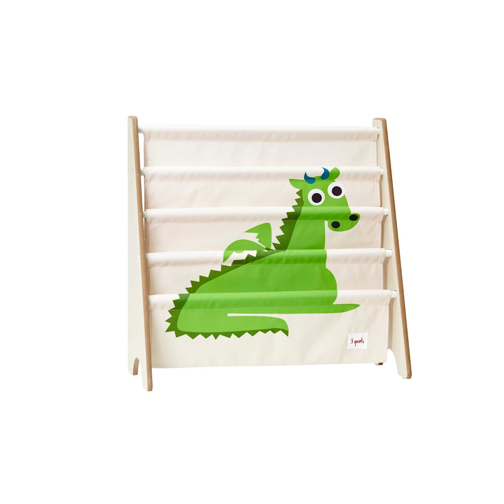Image of 3 Sprouts Kids Bookcase Rack Dragon Print
