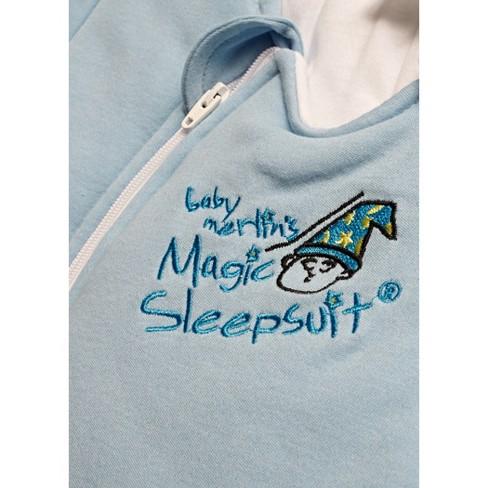 768ec8c34 Baby Merlin s Magic Sleepsuit Swaddle Wrap 3-6 Months - Cotton Blue ...