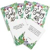 100-Cards Floral Trivia Card Game and Activity for Baby Shower and Gender Reveal, Double Sided, 2.5 x 3.5 Inches - image 3 of 4