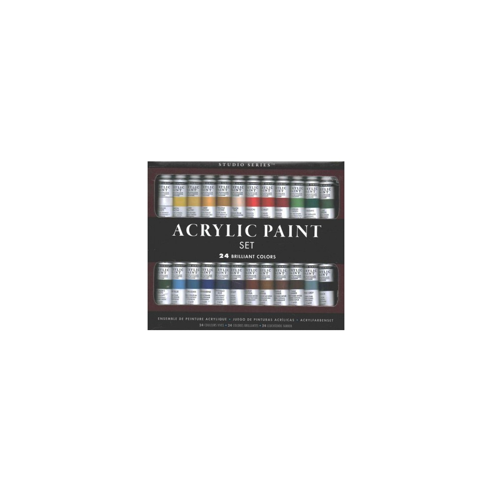Studio Series Acrylic Paint Set, 24 Colors (Accessory)