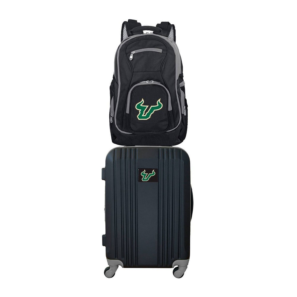 NCAA South Florida Bulls Premium 2pc Backpack & Carry-On Luggage Set