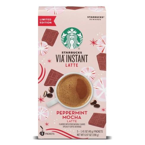 Starbucks VIA Instant Light Roast Peppermint Mocha Latte - 5ct - image 1 of 4