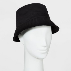 Women's Solid Bucket Hat - Wild Fable™ Black One Size