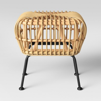 Rhea Small Rattan Ottoman - Assembly Required - Opalhouse™