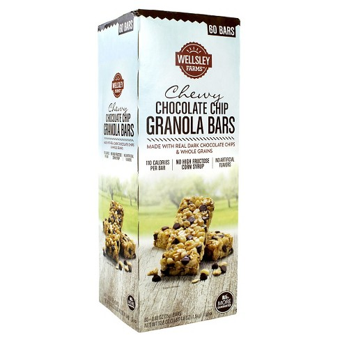 Wesley Farms Chocolate Chip Chewy Granola Bars - 52.8oz - image 1 of 2