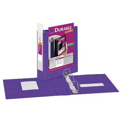 Avery 2 Durable 3 Ring Binder with Clear Cover Purple Target
