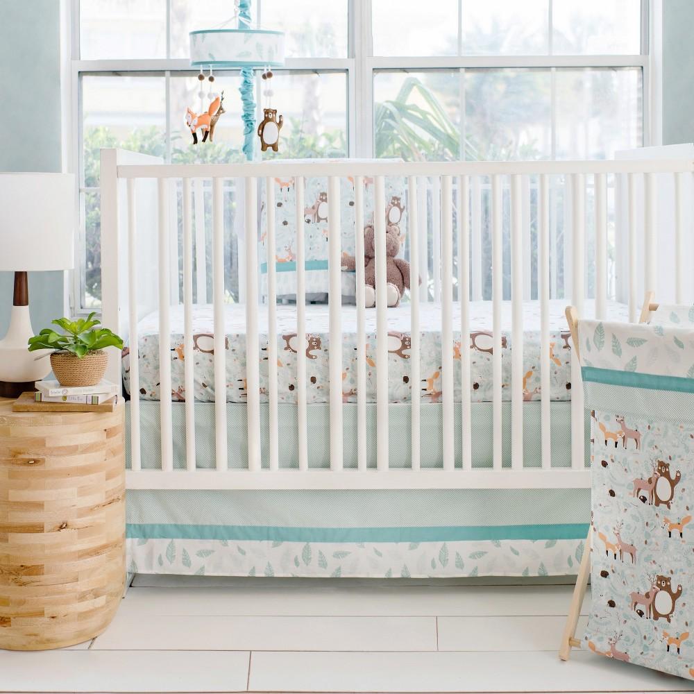Image of Crib Bedding Set My Baby Sam Aqua