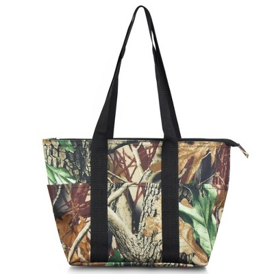 Zodaca Large Insulated Lunch Tote Bag, Natural Camoflague