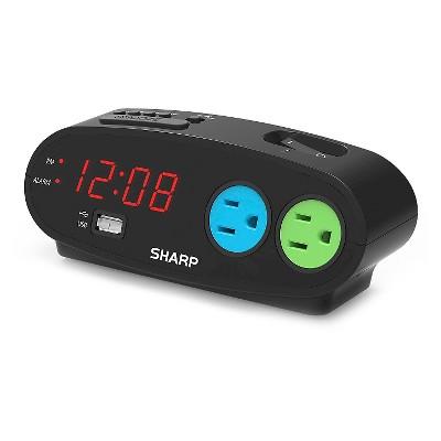 Outlet Digital Alarm Clock Black - Sharp®