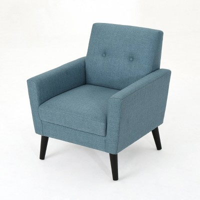Sienna Mid Century Club Chair Blue - Christopher Knight Home