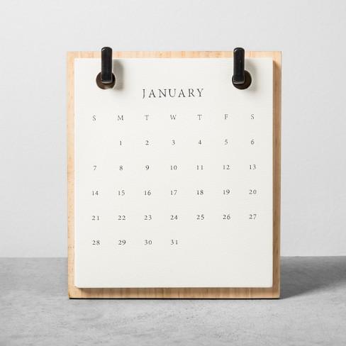 2018 Wood Desktop Paperboard Calendar Hearth Hand With Magnolia