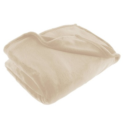 "60""x70"" Oversized Flannel Fleece Throw Blanket Desert Tan - Yorkshire Home"