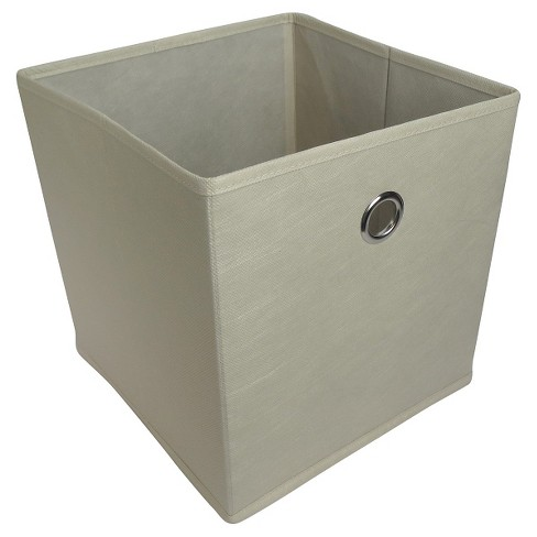 "Fabric Cube Storage Bin Cream 11"" - Room Essentials™ - image 1 of 3"