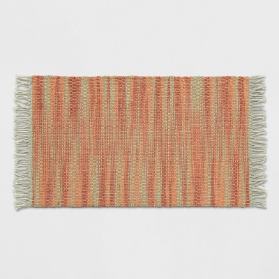 Orange Spacedye Woven Fringed Accent Rug 2'6 X4' - Opalhouse™