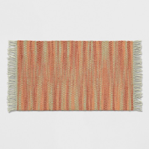 "Orange Spacedye Woven Fringed Accent Rug 2'6""X4' - Opalhouse™ - image 1 of 3"