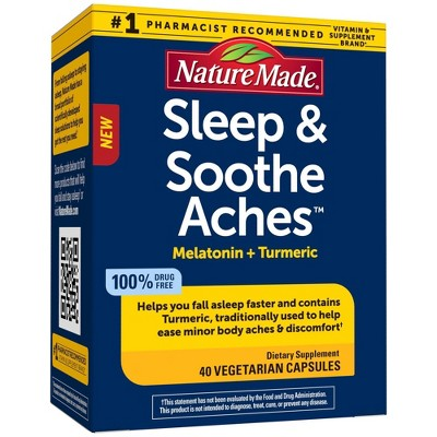Nature Made Sleep & Soothe Aches Capsules - 40ct