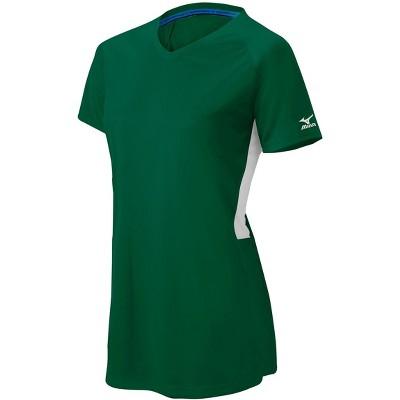 Mizuno Girl's Comp Short Sleeve V-Neck Shirt