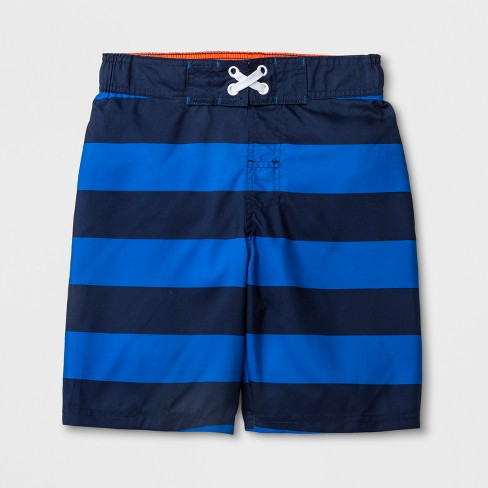 5ff0abdadb Boys' Rugby Stripe Swim Trunks - Cat & Jack™ Navy XL HUSKY : Target