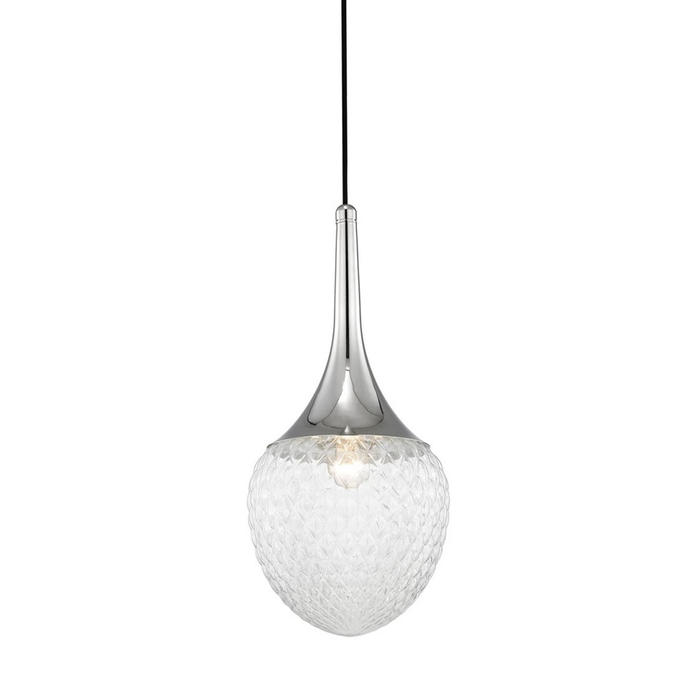 Bella 1-Light Pendant Chandelier Style B Brushed Nickel - Mitzi by Hudson Valley Buy