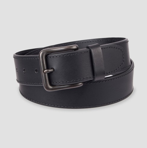 Men's 38mm Bevel Edge Belt - Goodfellow & Co™ Black 2XL - image 1 of 1