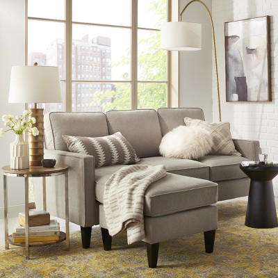 Modern Neutral Living Room With, Target Living Room Furniture