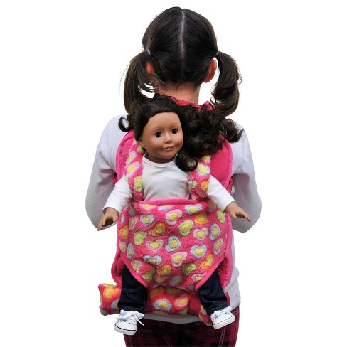"The Queen's Treasures® 18"" Doll Carrier & Accessory Set Pink - image 1 of 7"