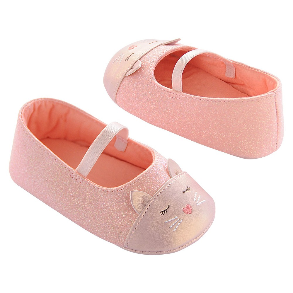 Baby Girls' Critter Mary Jane Shoes Pink Kitty 2 - Circo, Size: 3-6M