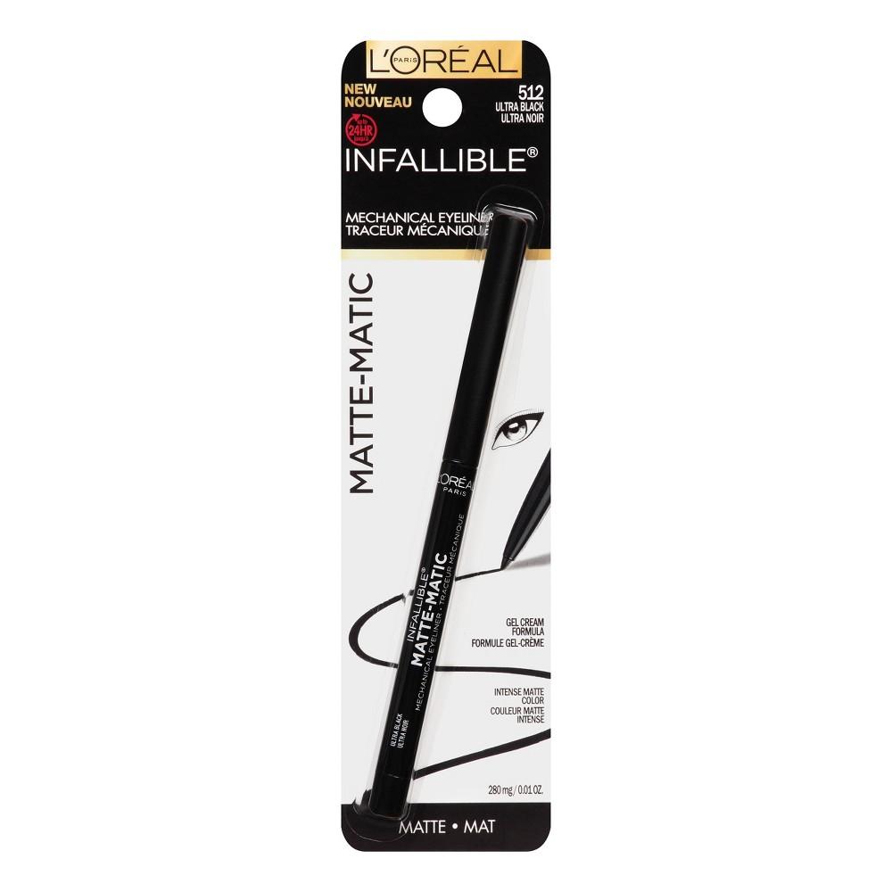 Image of L'Oreal Paris Infallible Mat-Matic Liner 512 Black .01oz, Ultra Black 512