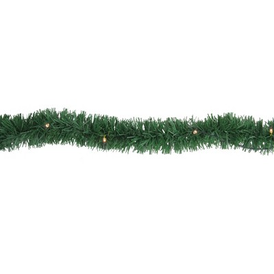 "Brite Star 18' x 2.5"" Prelit LED Green Pine Artificial Christmas Garland - Warm White Lights"