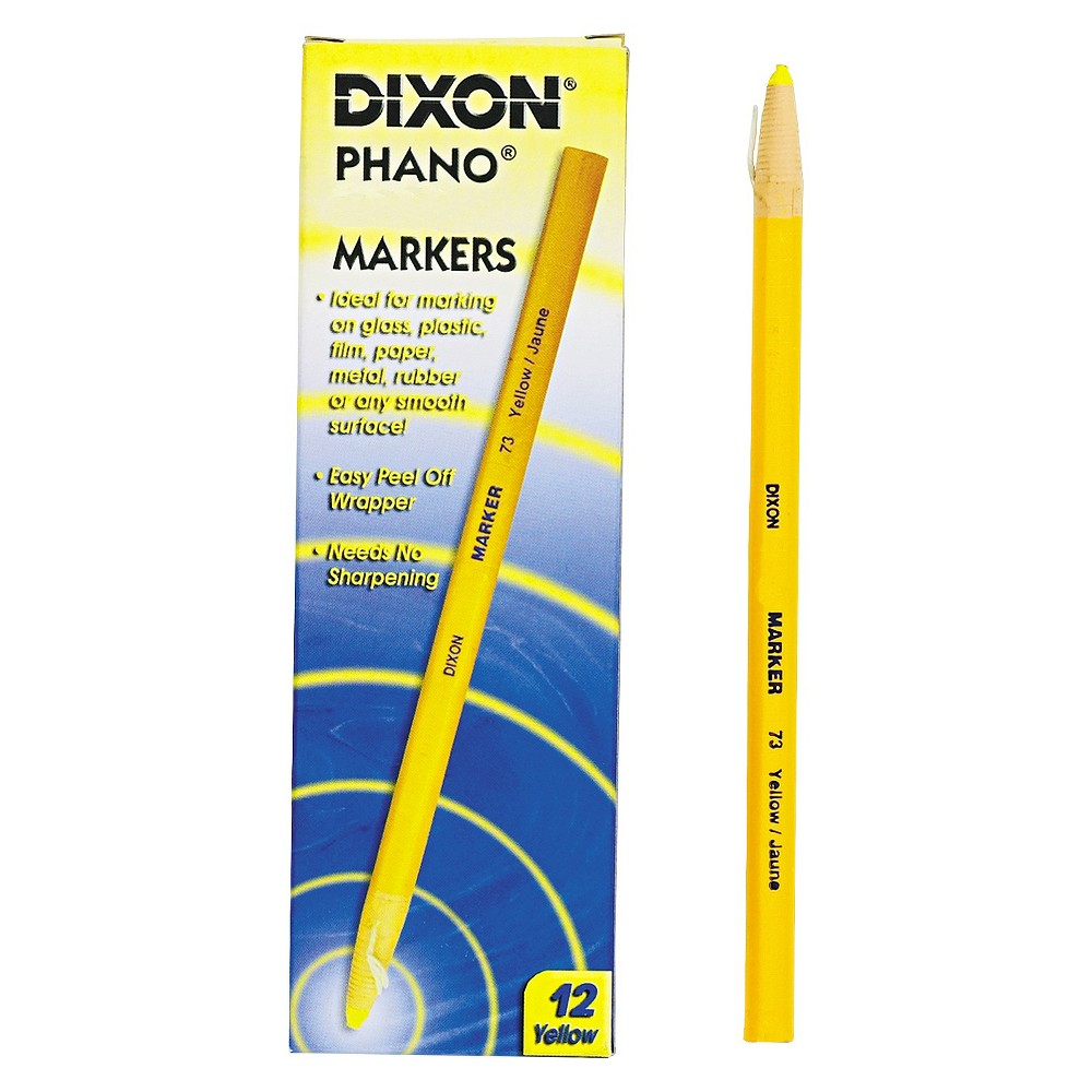Image of Dixon 12ct China Marker - Yellow