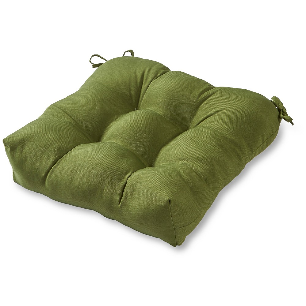 Image of Solid Outdoor Seat Cushion - Hunter - Kensington Garden