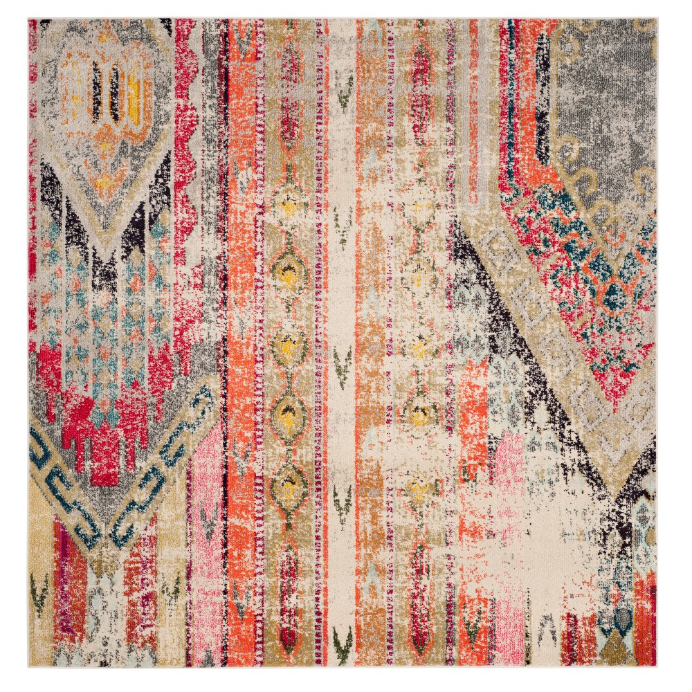 Tribal Loomed Square Area Rug 6'7