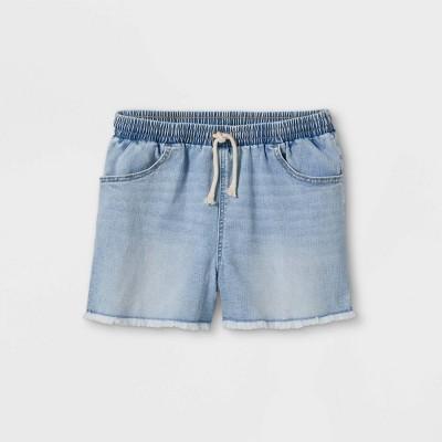 Girls' Cut-Off Denim Shorts - art class™