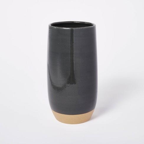 "11.25"" x 5.25"" Decorative Bottle Vase Stoneware with Exposed Clay Gray - Threshold™ designed with Studio McGee - image 1 of 4"
