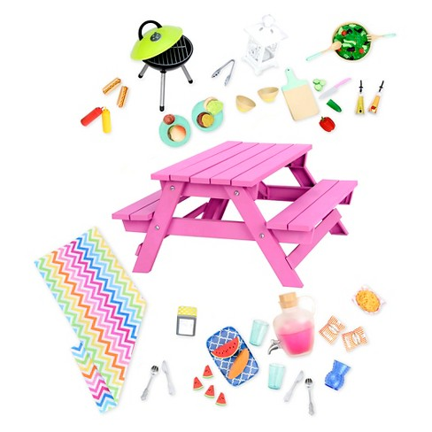 Our Generation Picnic Table Accessory Set - image 1 of 3