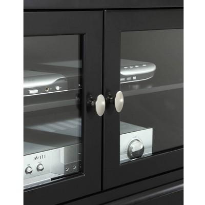"Glass Door Traditional Highboy TV Stand For TVs Up To 58"" - Saracina Home : Target"