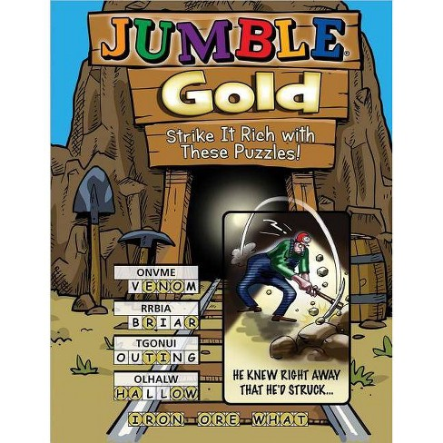 Jumble(r) Gold: Strike It Rich with These Puzzles! - (Jumbles#174;) (Paperback) - image 1 of 1