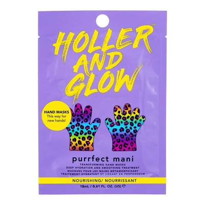Holler and Glow Purrfect Skin Hand Mask - Rainbow - 0.61 fl oz