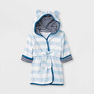 Baby Boys' Stripe Knit Terry Robe - Cloud Island™ Blue