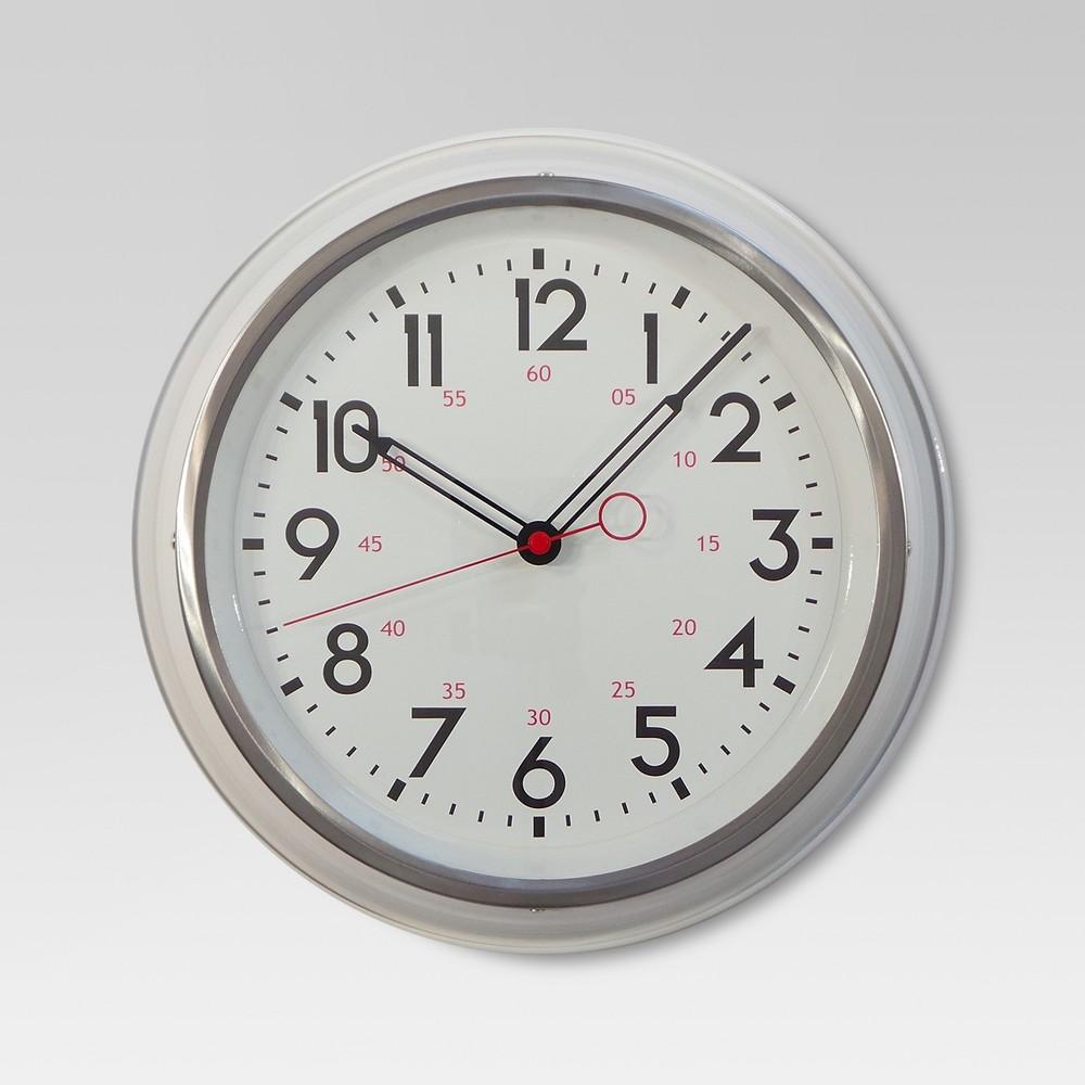Schoolhouse 14 Wall Clock White - Threshold