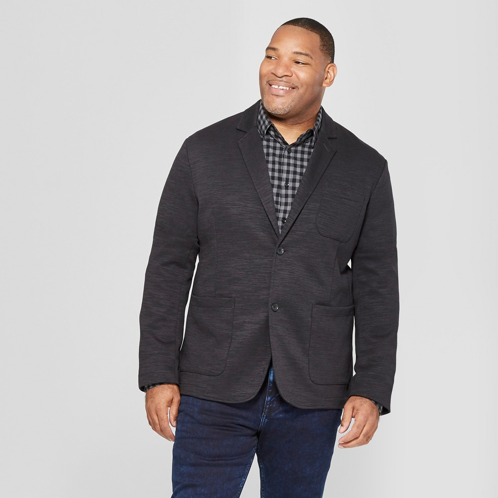 Men's Big & Tall Knit Blazer - Goodfellow & Co Deep Charcoal 2XB