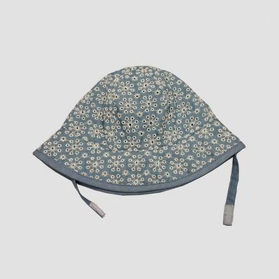 Baby Girls' Chambray Eyelet Bucket Hat - Cat & Jack™ Blue 6-12M