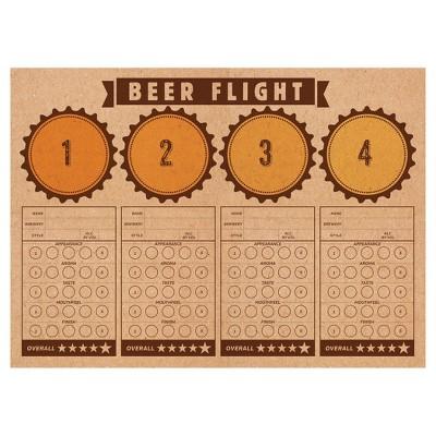 24ct Cheers & Beers Beer Flight Placemats