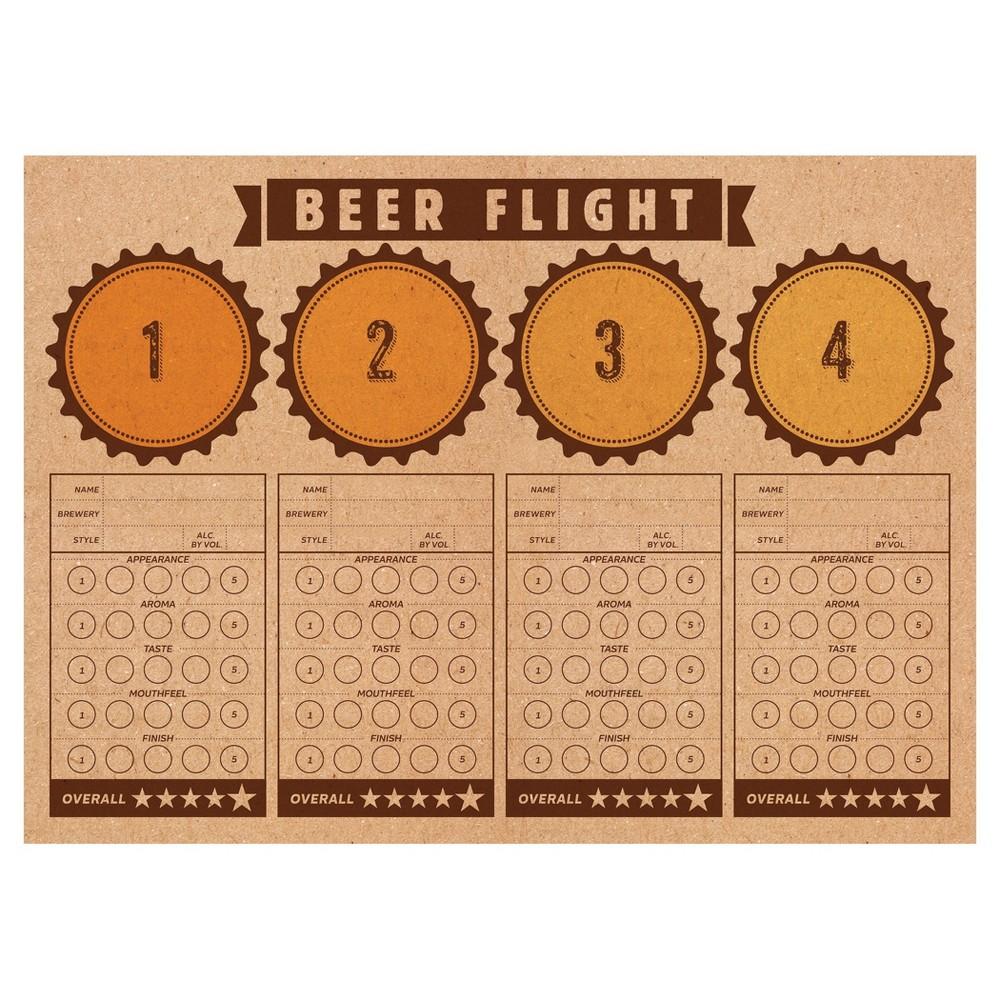 24ct Cheers Beers Beer Flight Placemats